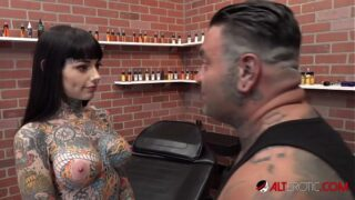 Sexy Tiger Lilly Gets Tattoo And Dick